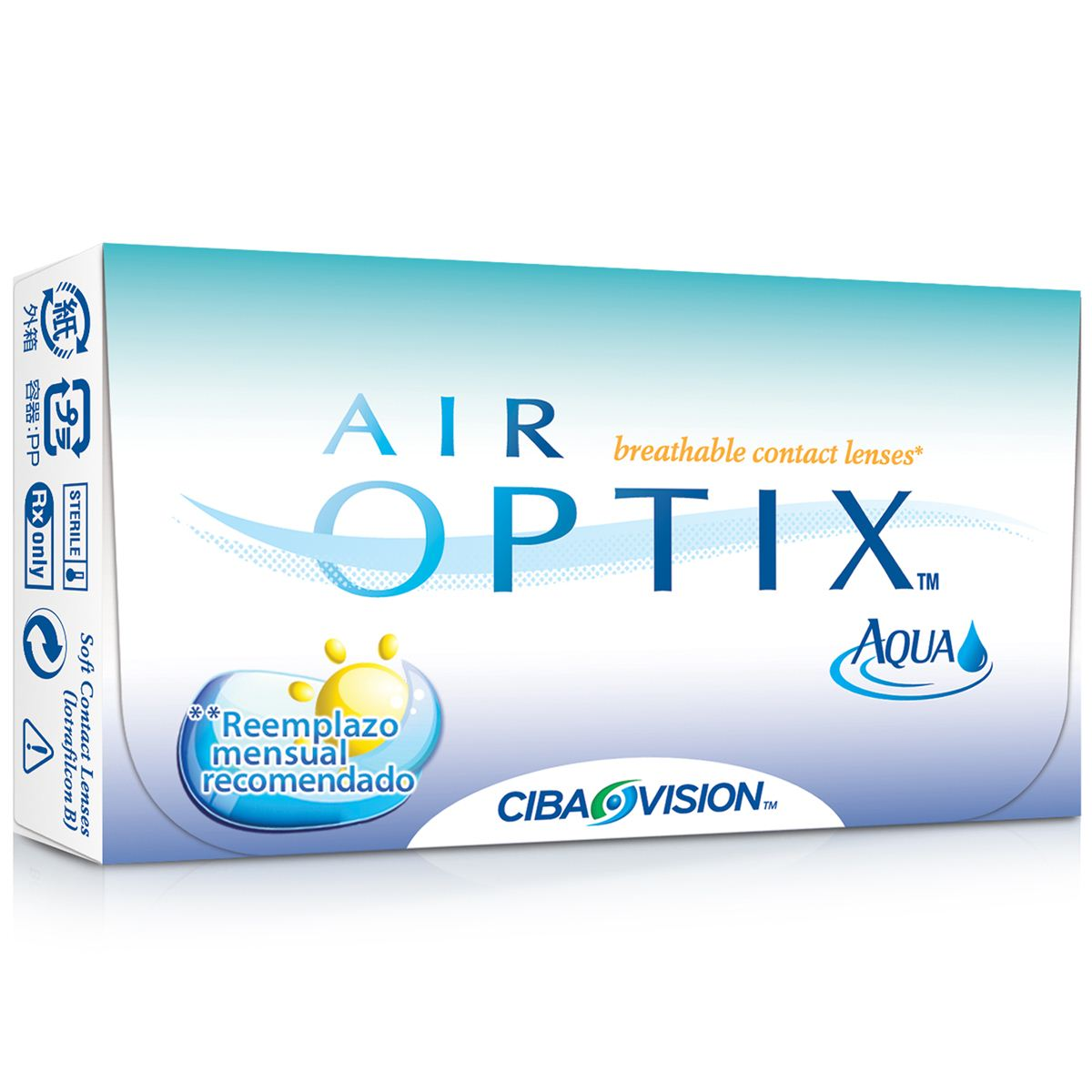 Lentes de contacto airoptix aqua sph 6p 860 142 +01.75  - Sanborns