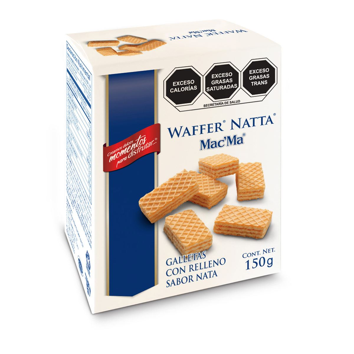 Galletas Wafer Rellenas Mac' Ma 150g
