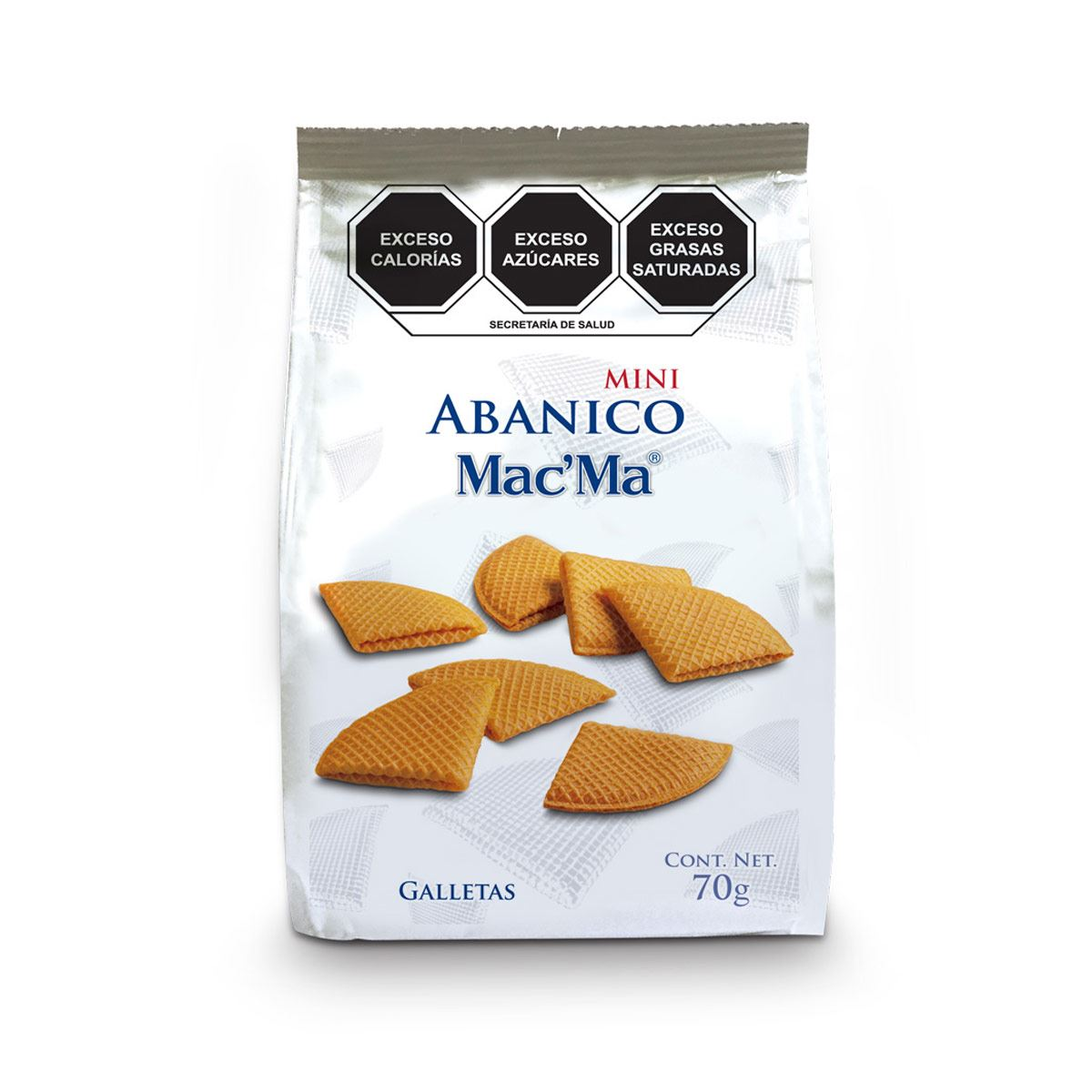 Bolsa de Galletas Mini Abanico Mac' Ma 70g