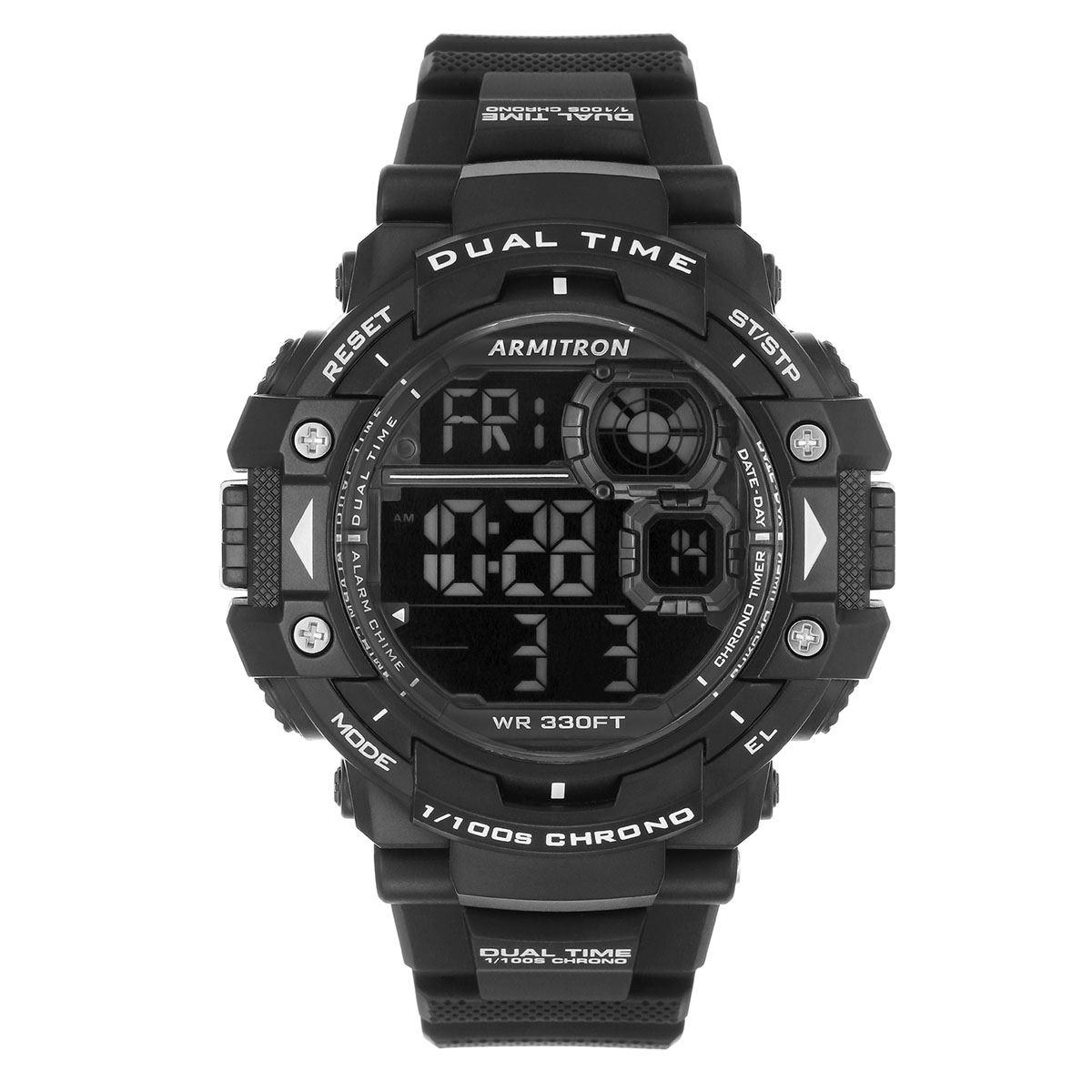 Reloj armitron pro sport  caballeros 408309blk  - Sanborns