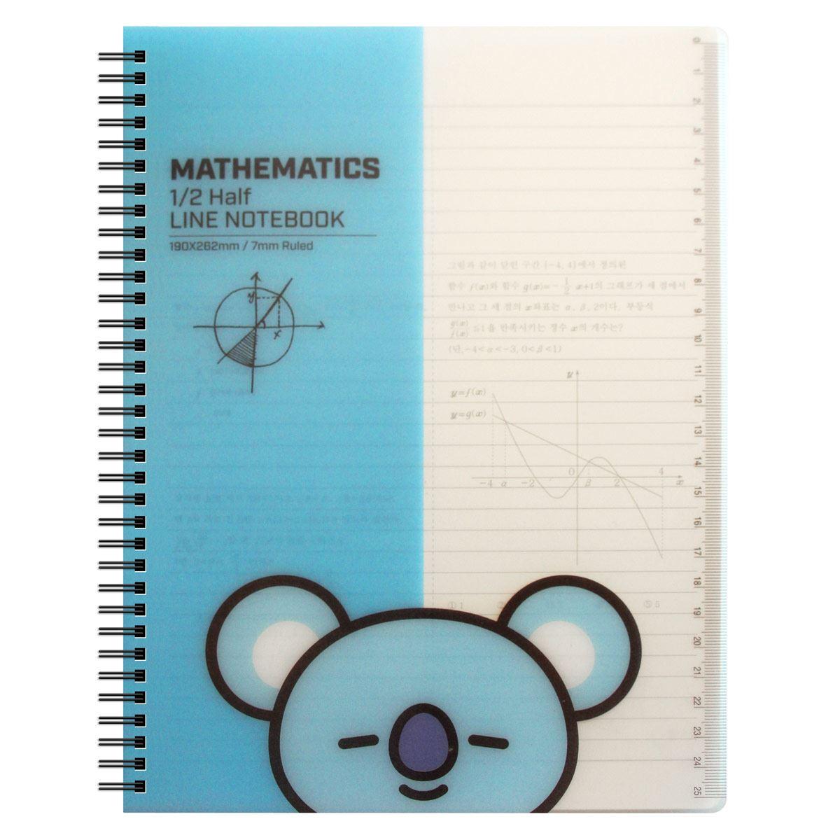 Cuaderno De Matemáticas Con Personaje Koya Línea BT21