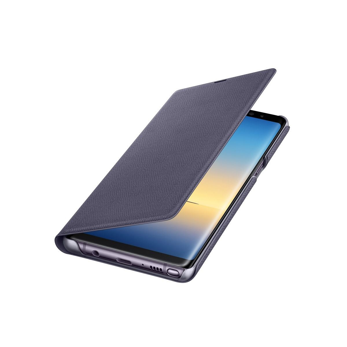 Funda led view cover note 8 ochid gris  - Sanborns