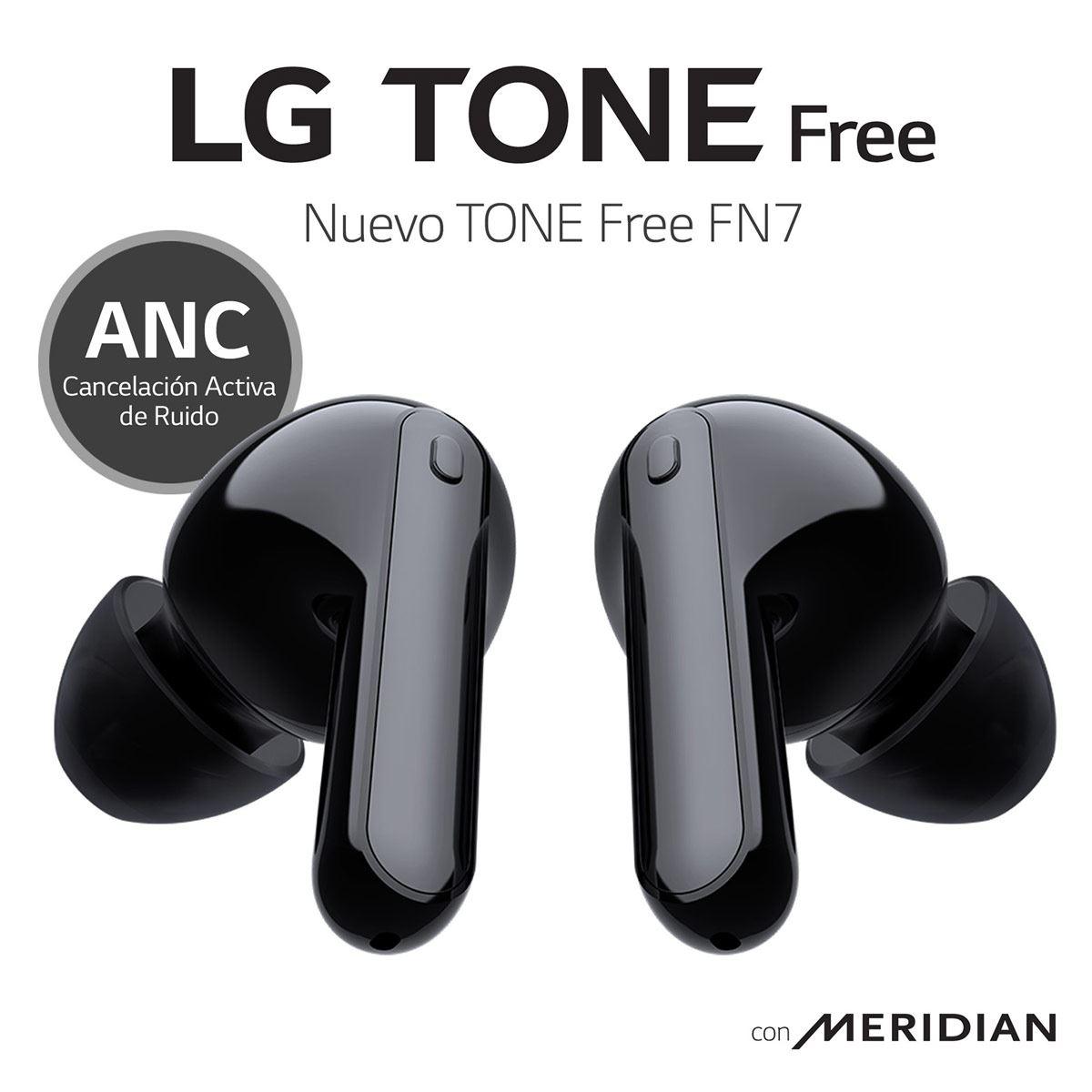 Audífonos LG Tone Free HBS-FN7 True Wireless con Cancelación de Ruido Negros