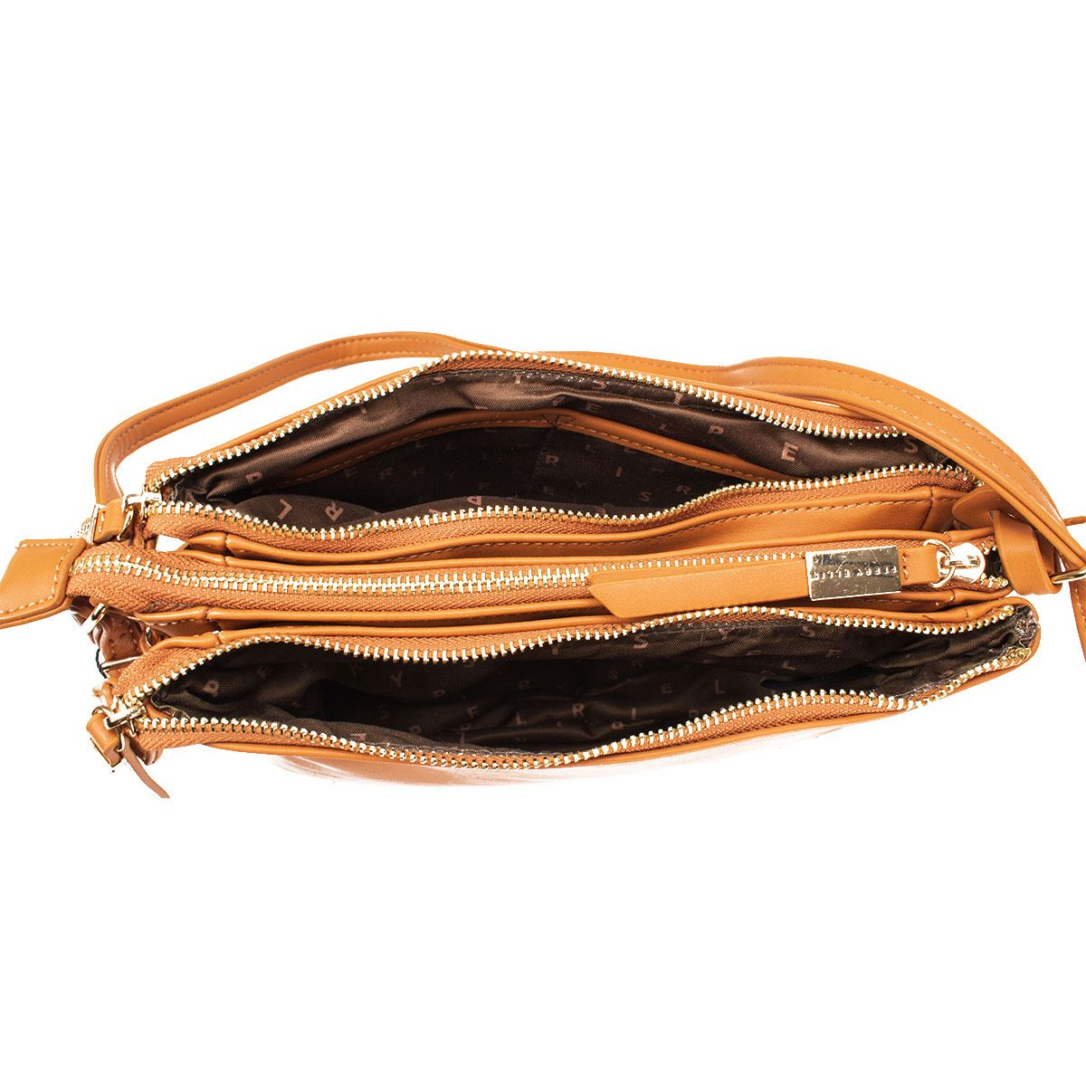 Bolsa Cross Body  Perry Ellis  Camel