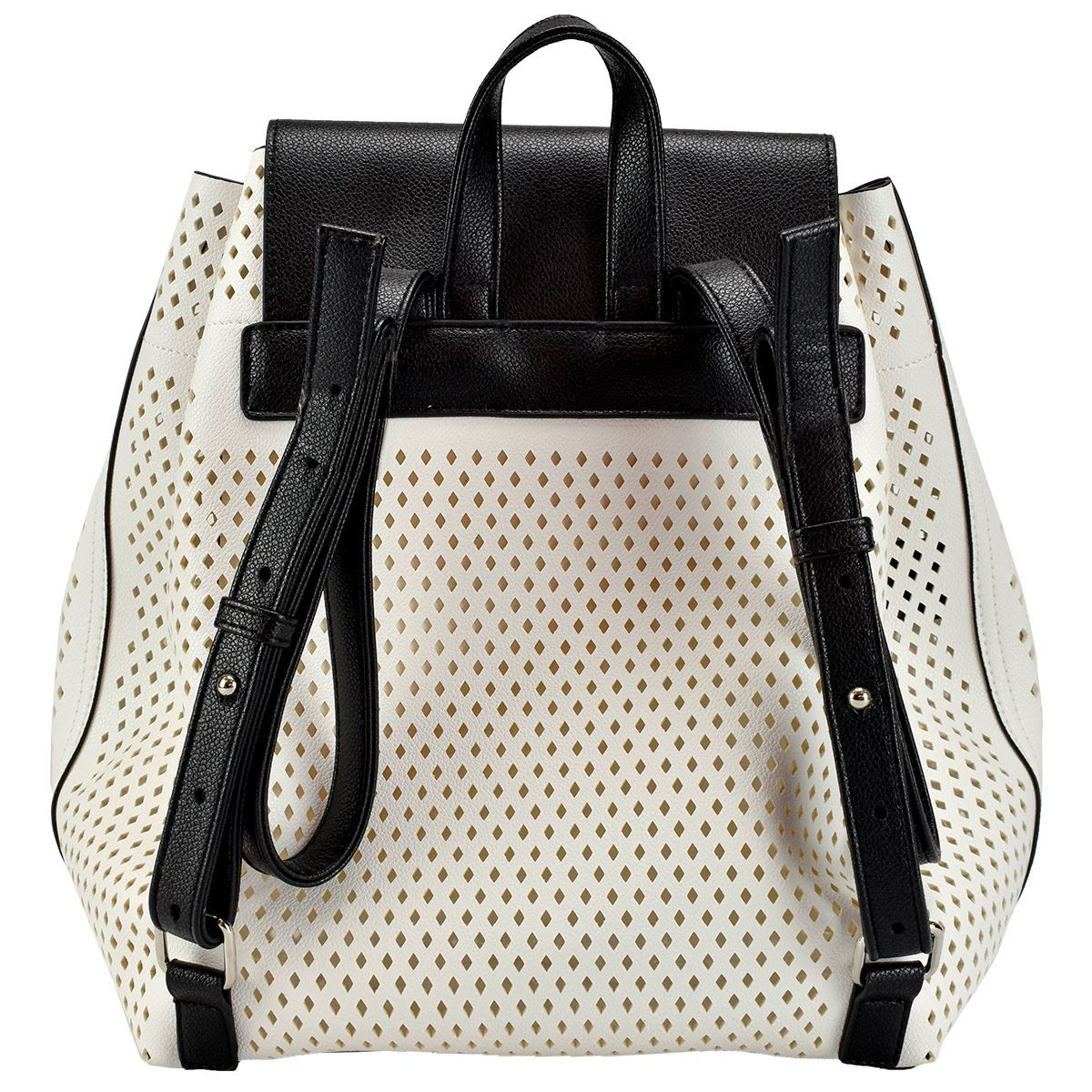 Backpack blanco con negro Lee