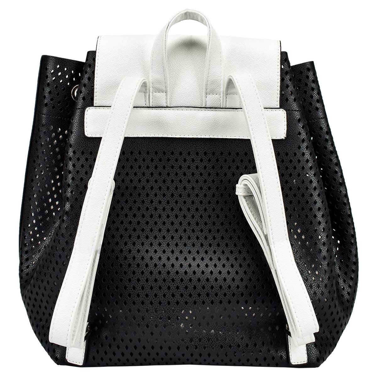 Backpack negro con blanco Lee