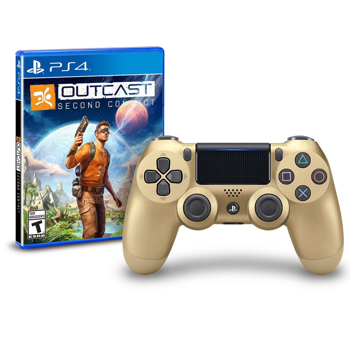 Control DS4 Gold + PS4 Outcast Second Contact