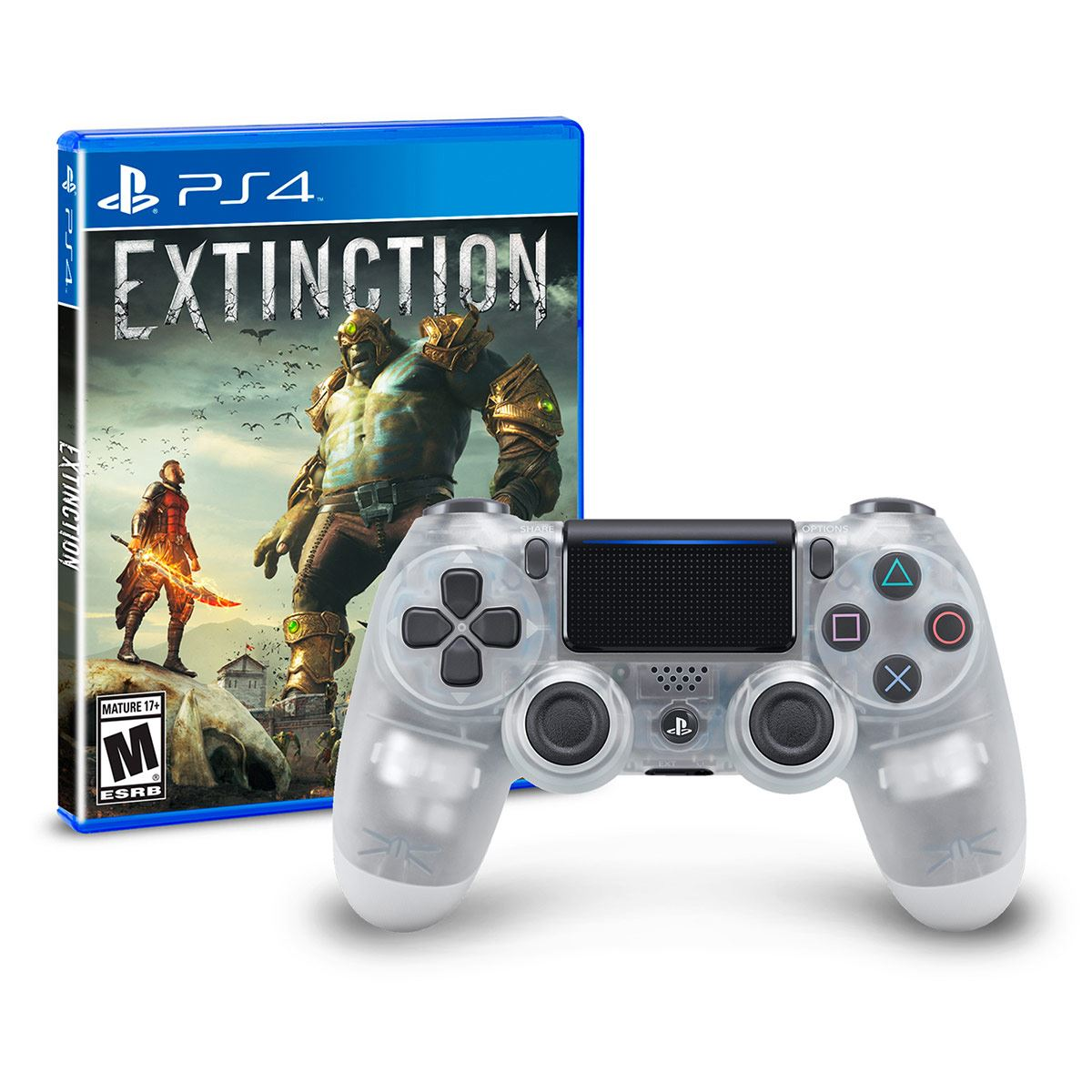 Control DS4 Crystal + PS4 Extinction