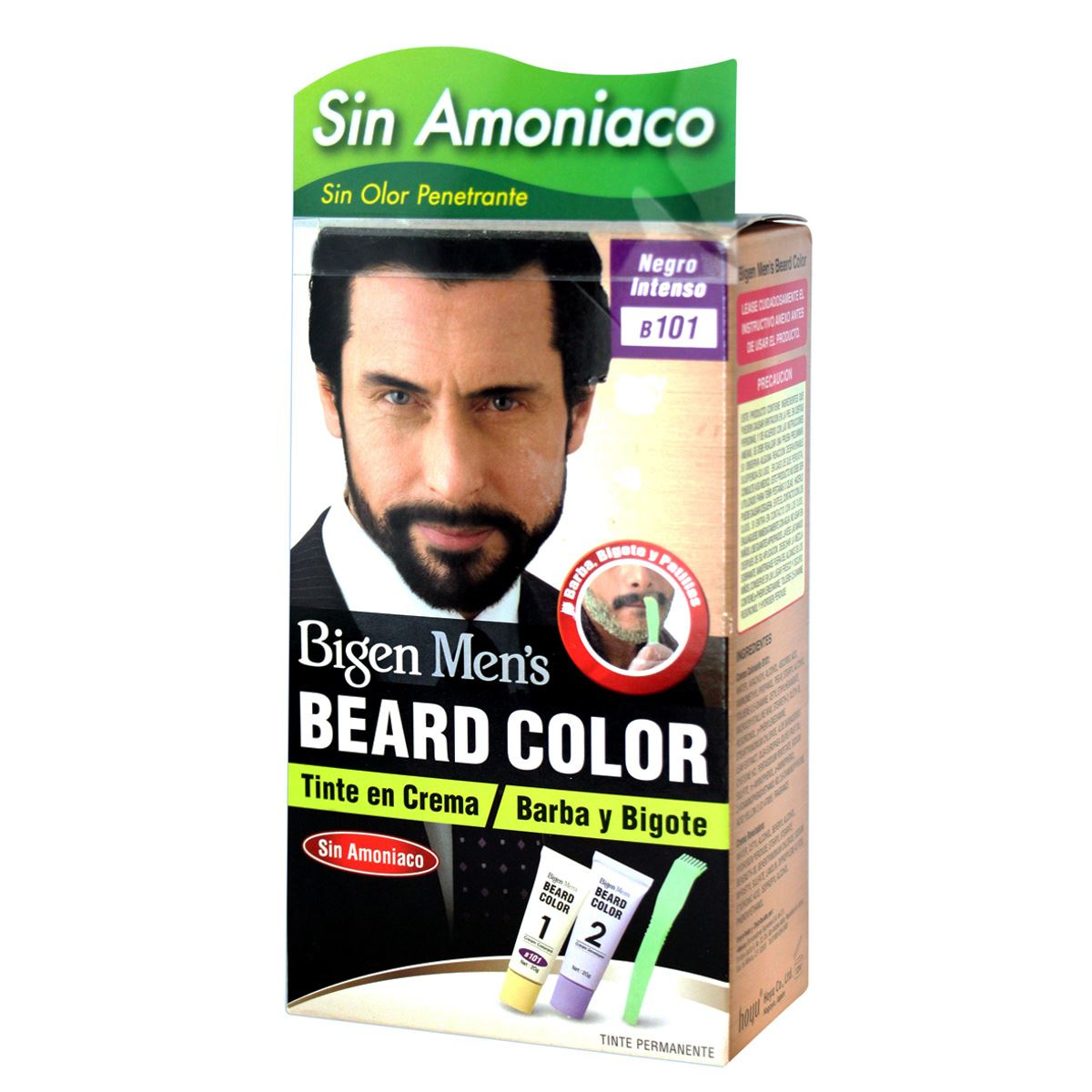 Bigen Coloración para Barba y Bigote color Negro Intenso