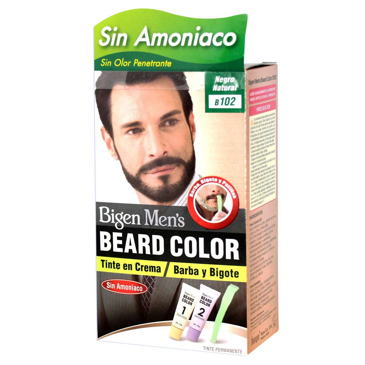 Bigen Coloración para Barba y Bigote color Negro Natural