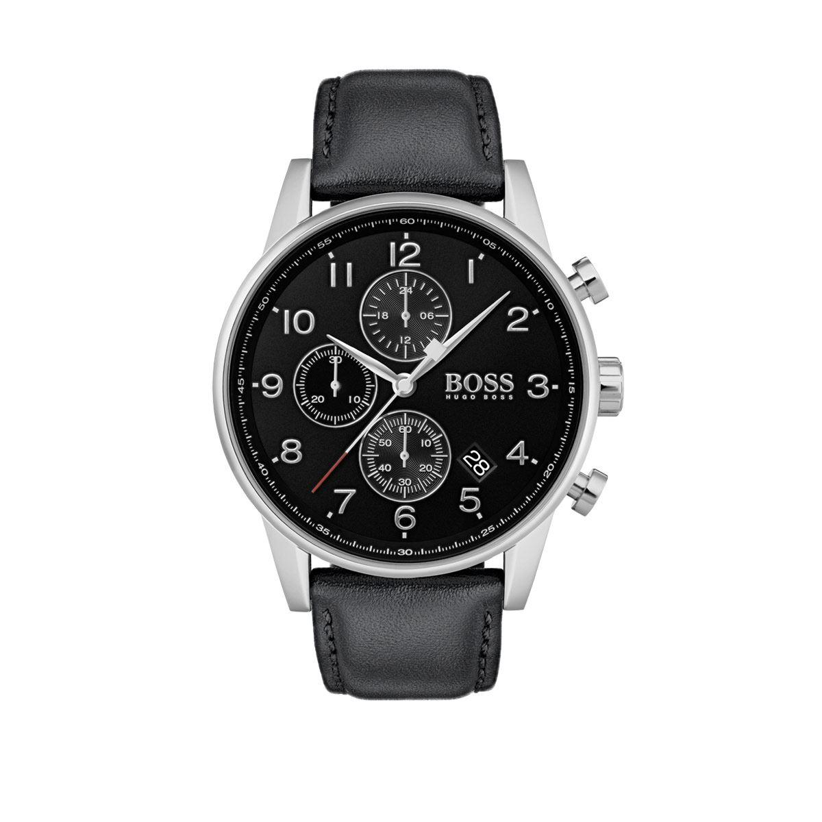 Reloj Boss Navigator Color Negro 1513678 Para Caballero