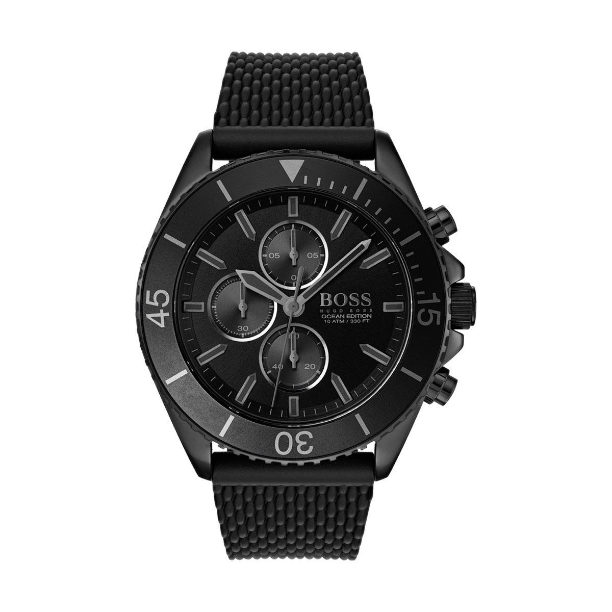 Reloj Boss Ocean Edition Color Negro 1513699 Para Caballero