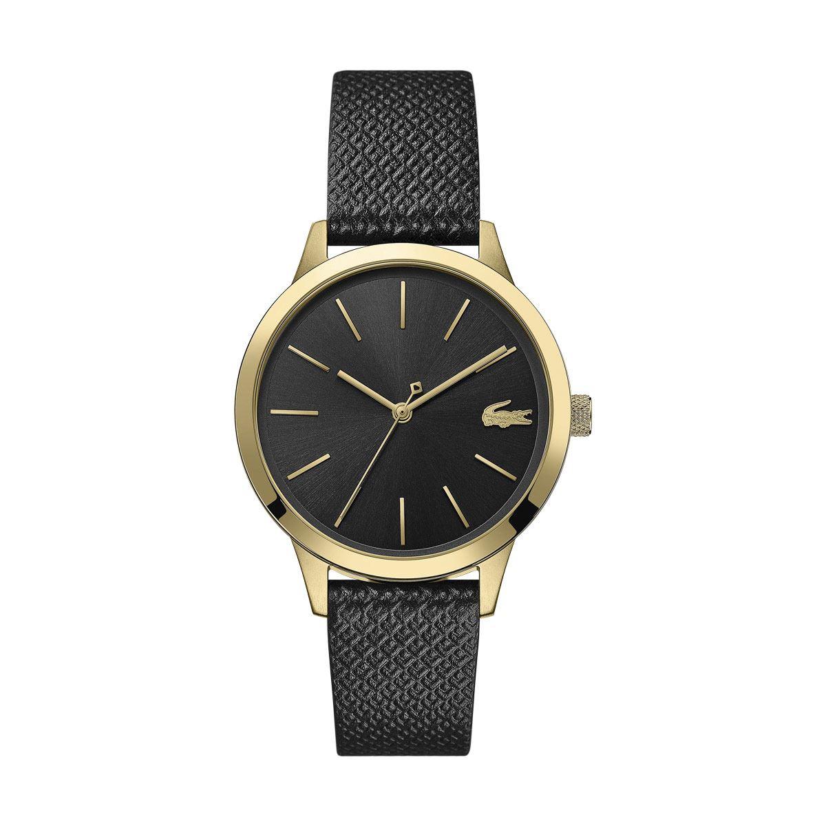 Reloj Lacoste Moda Negro y Dorado Para Dama