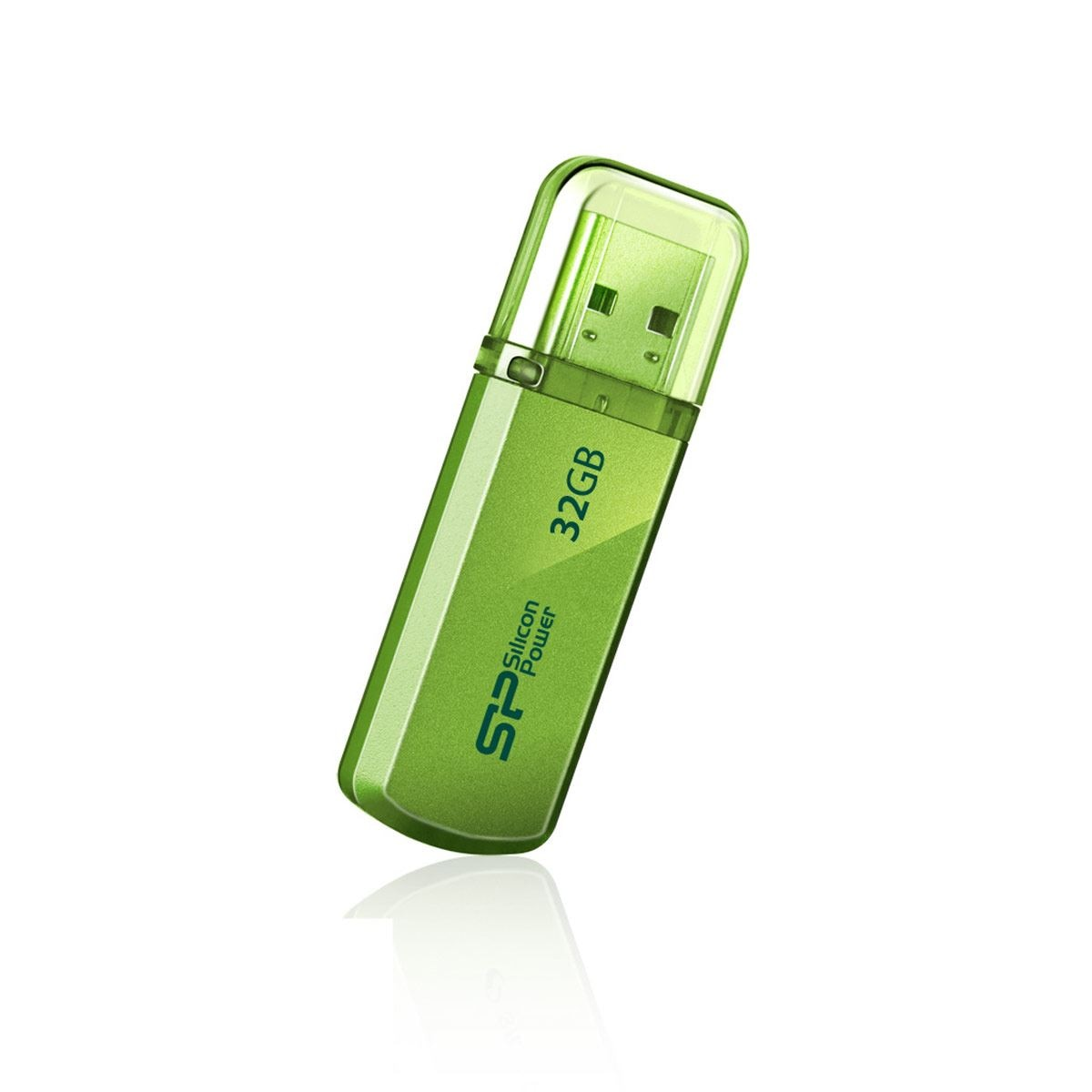 USB Aluminio Verde Limon 32GB Silicon Power