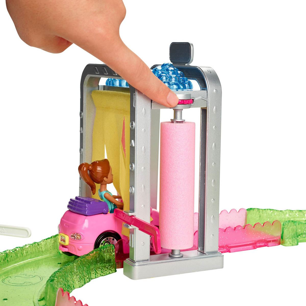 Barbie On The Go Auto Lavado
