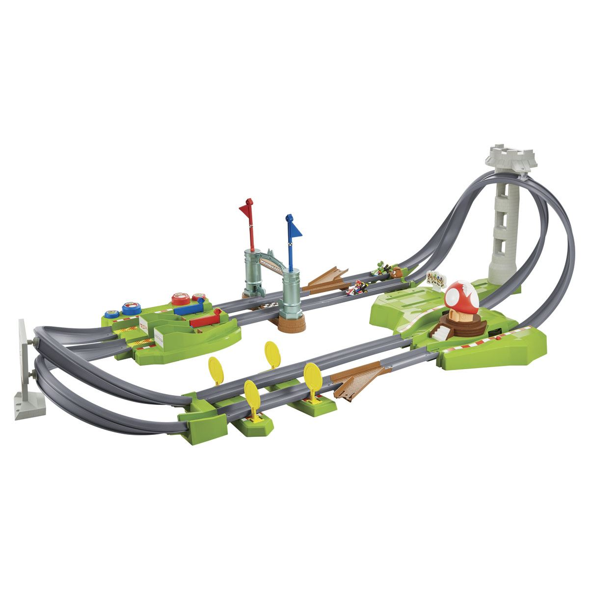 Hot Wheels Mario Kart Pista De Circuito Largo