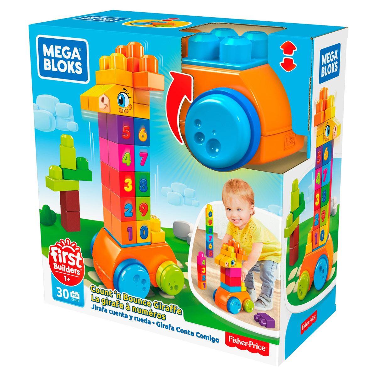 Construcción Infantil y Preescolar Jirafa de Bloques Mega Bloks