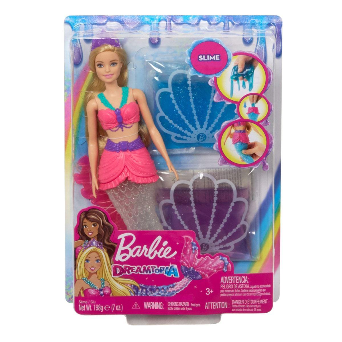 Muñeca Barbie Sirena con Slime Dreamtopia