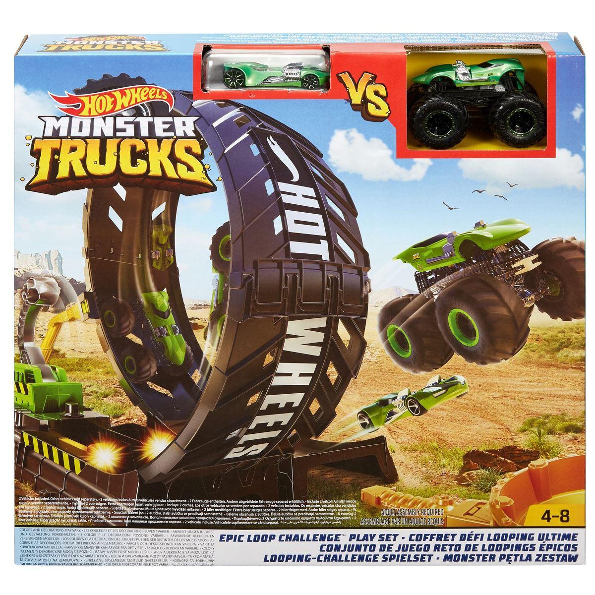 Hot Wheels Monster Trucks Pista de Juguete Loop