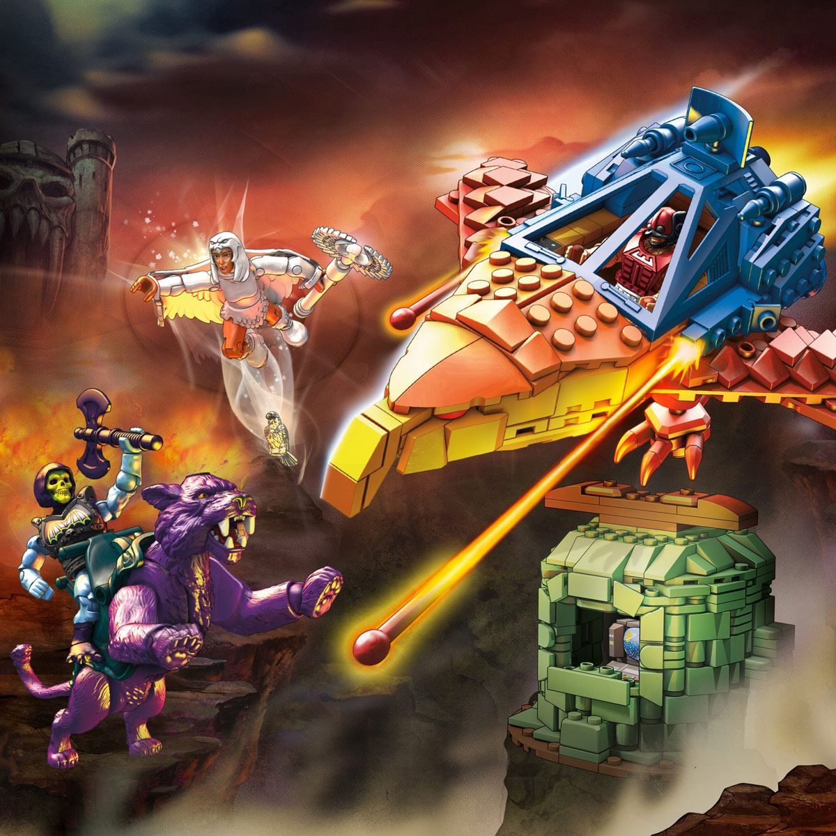 Mega Construx Masters of the Universe Panthor en Point Dread
