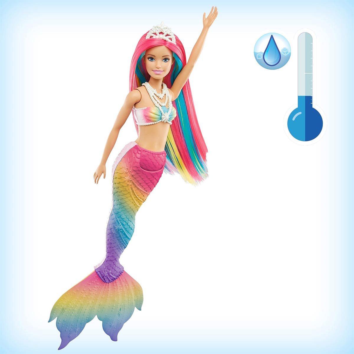 Barbie Dreamtopia Sirena Arcoíris Mágico