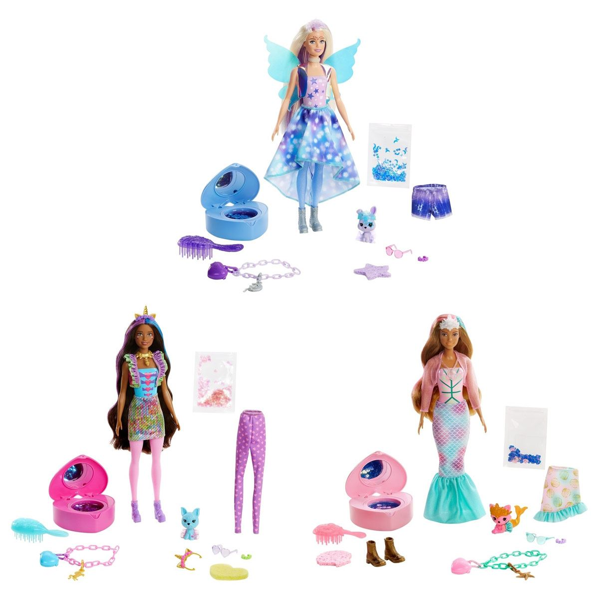 Barbie Fashionista Color Reveal Moda de Fantasía