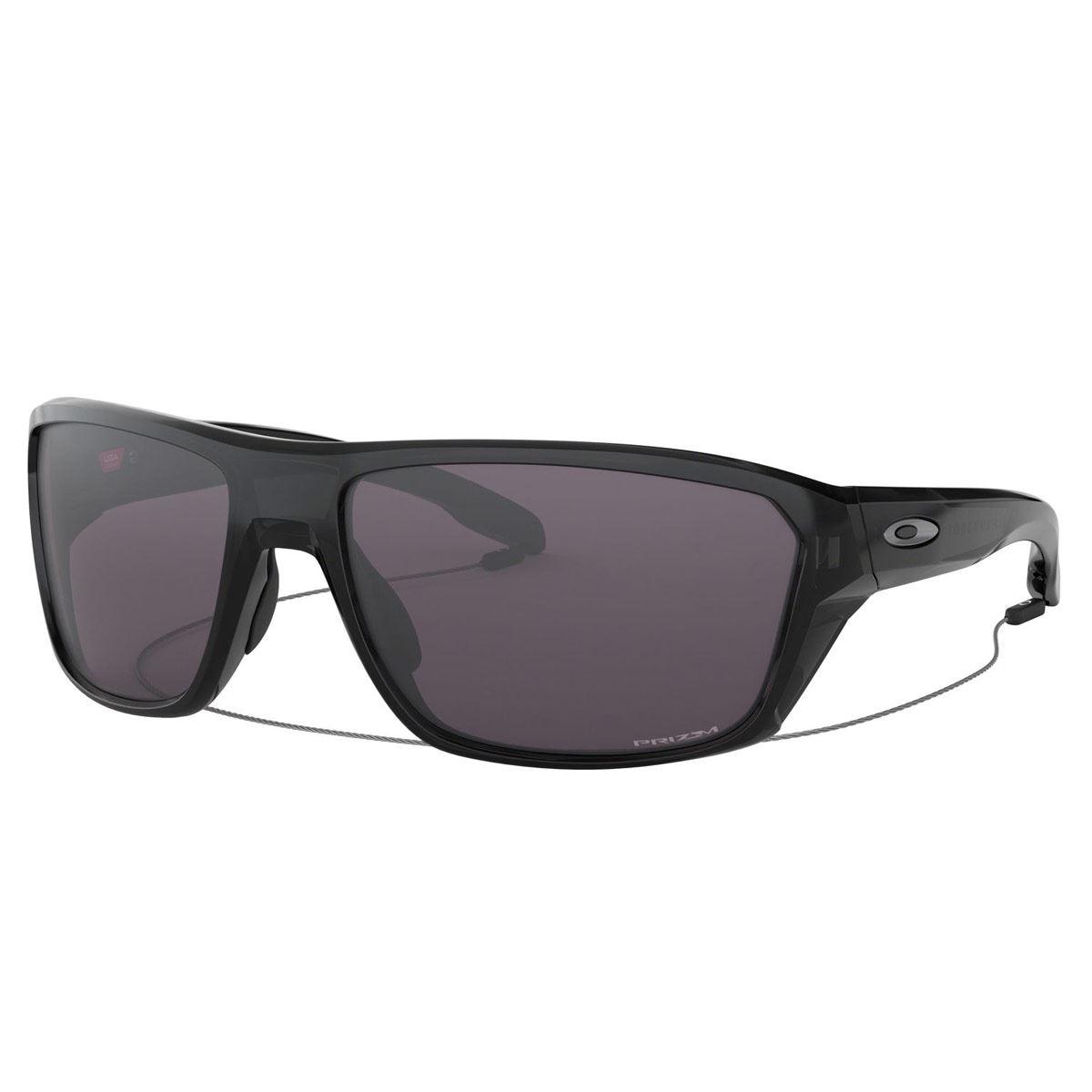 Lente de sol Oakley Split Shot gris con armazón negro