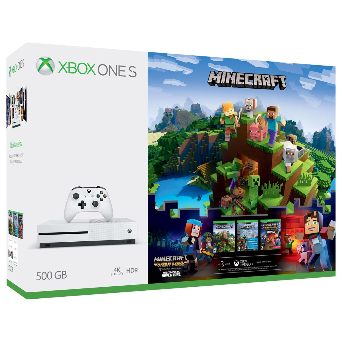Xbox one s de 500gb + minecraft  - Sanborns