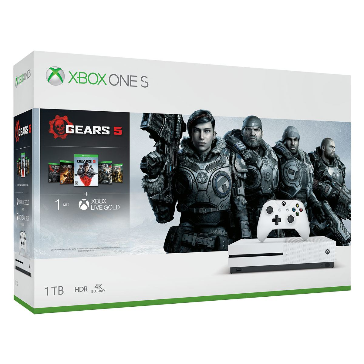 Consola Xbox One S 1TB Gears 5