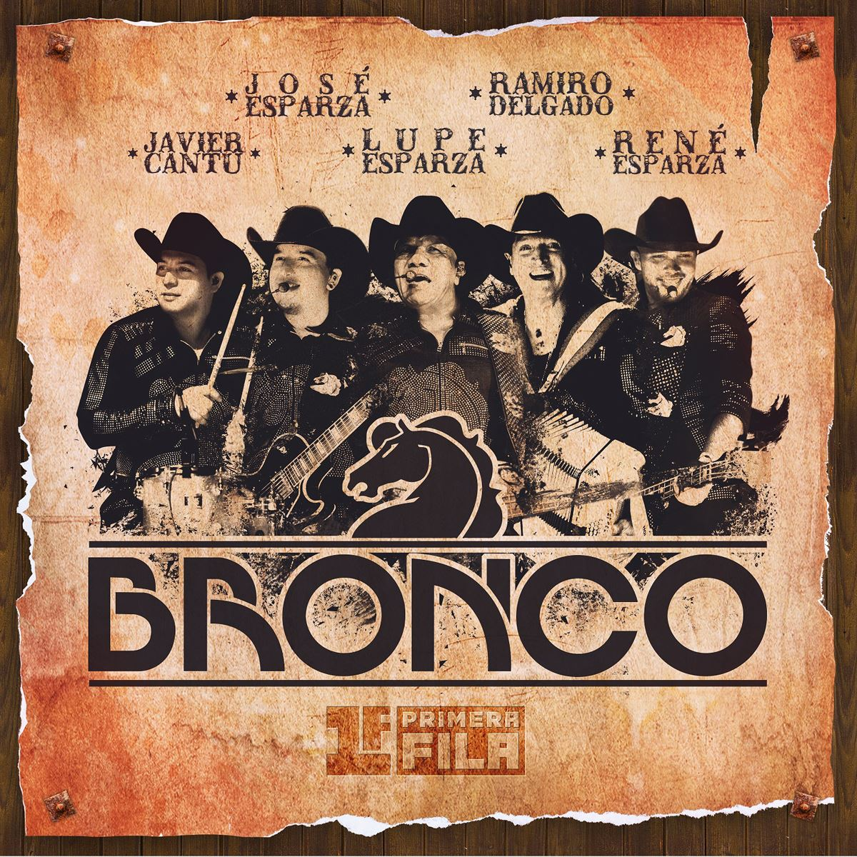 Cd/ dvd bronco- primera fila  - Sanborns