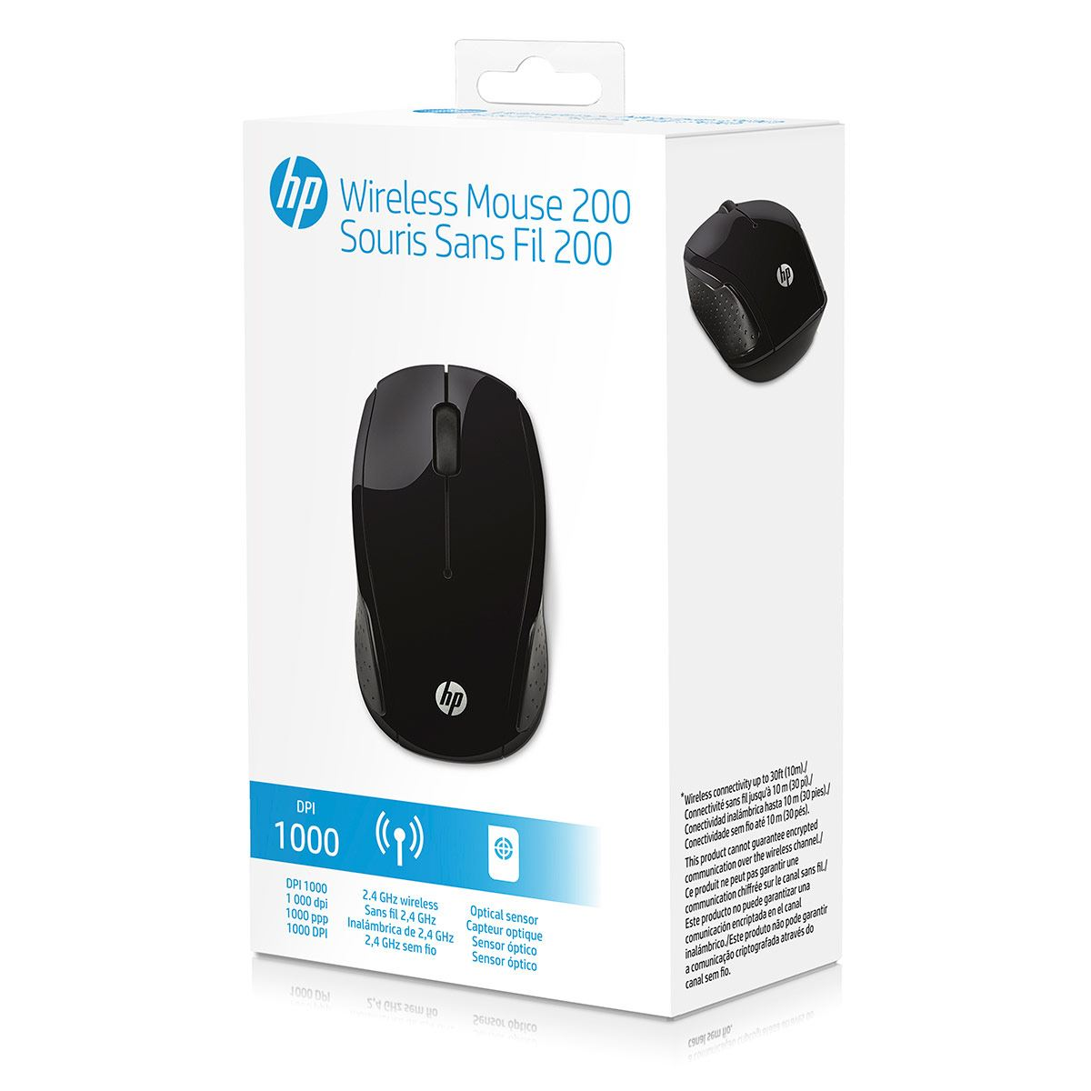 Mouse HP 200 Negro