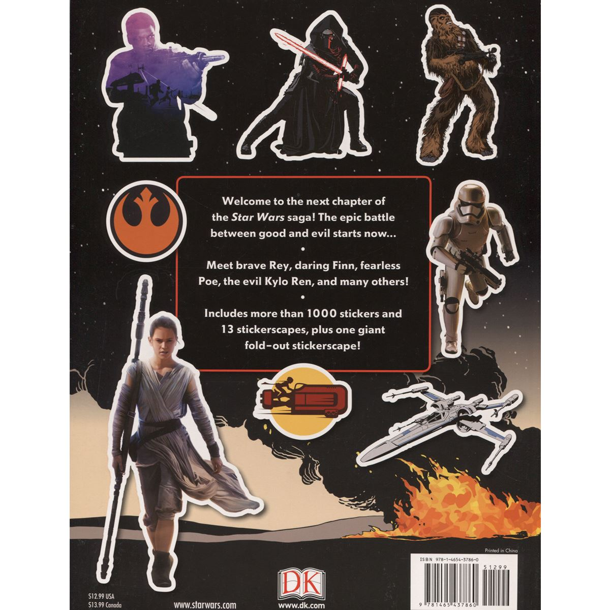 Ultimate sticker collection: star wars: the force awakens stickerscapes Libro - Sanborns