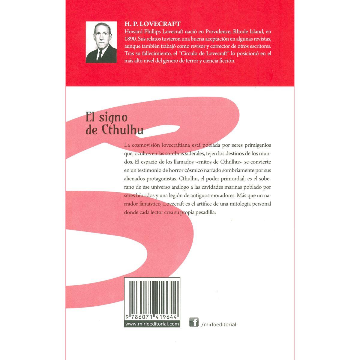 El signo de cthulhu Libro - Sanborns