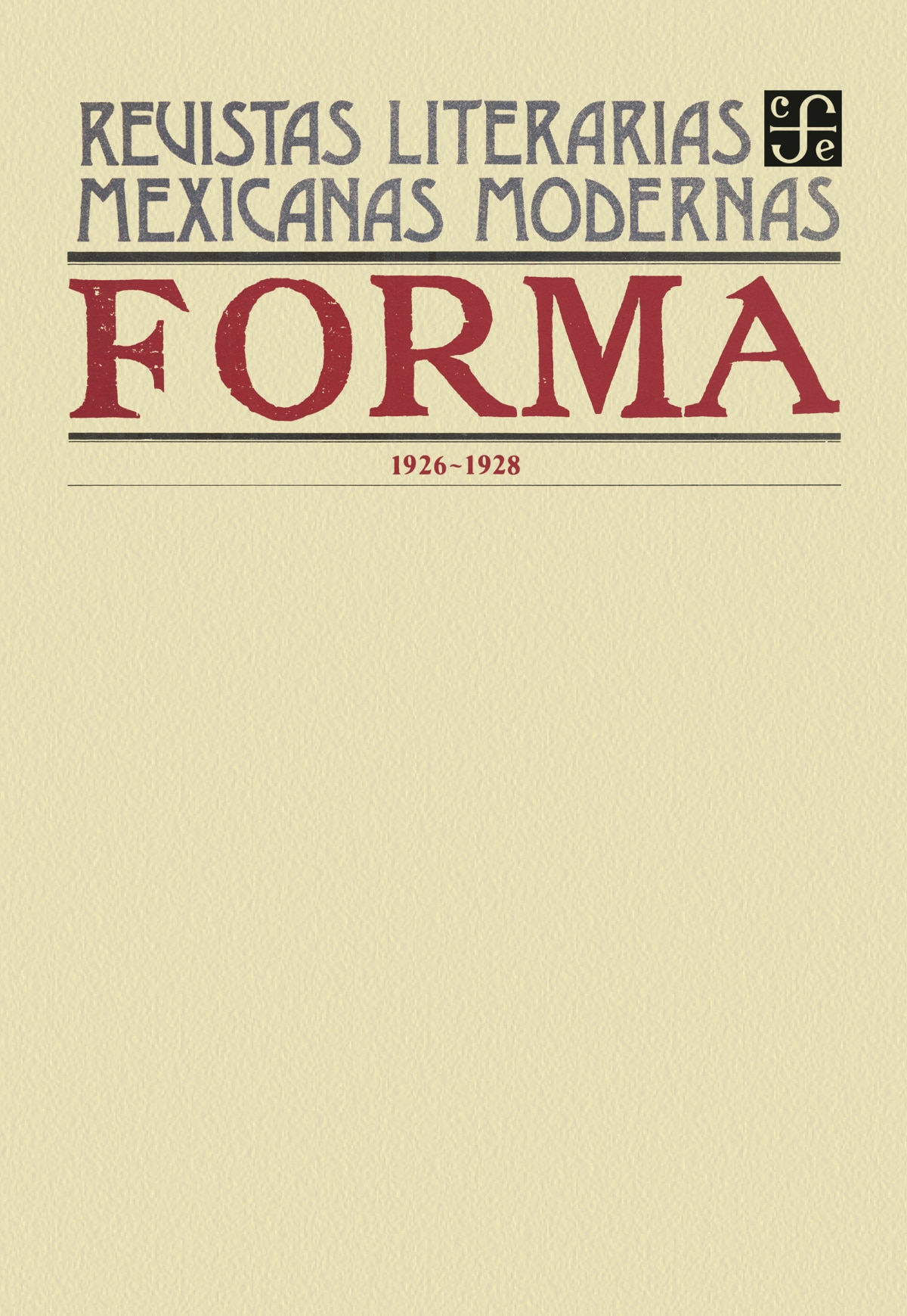 Forma, 1926-1928
