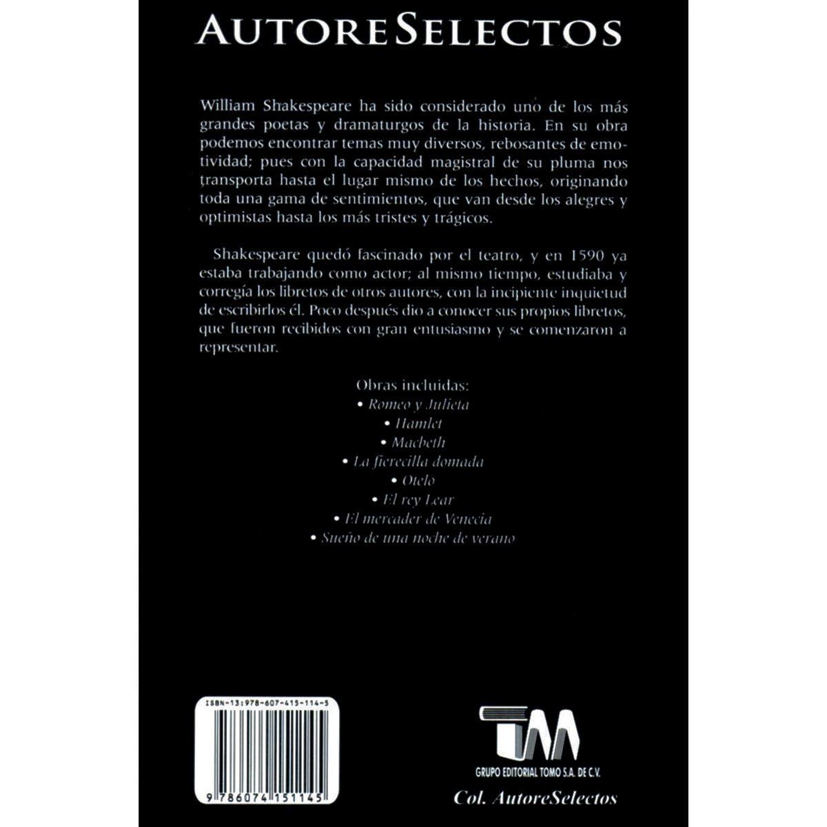 William shakespeare - autores selectos Libro - Sanborns