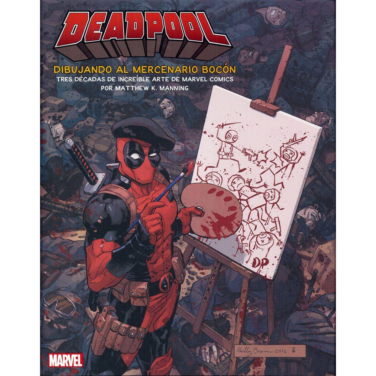 Deadpool dibujando al mercenario bocón