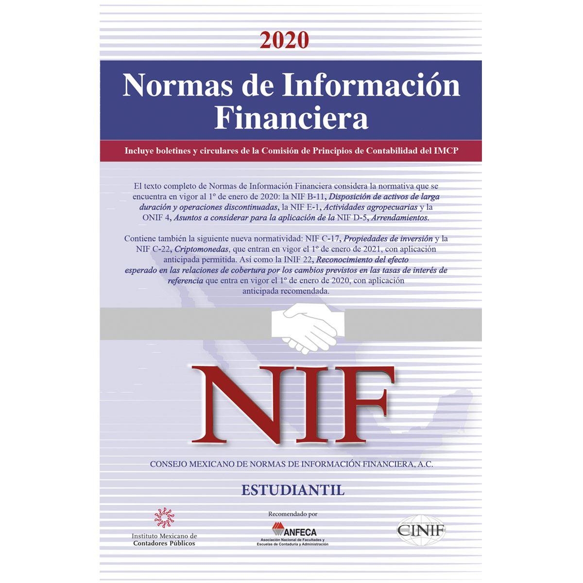 Normas de Información FinancieraEstudiantil 2020
