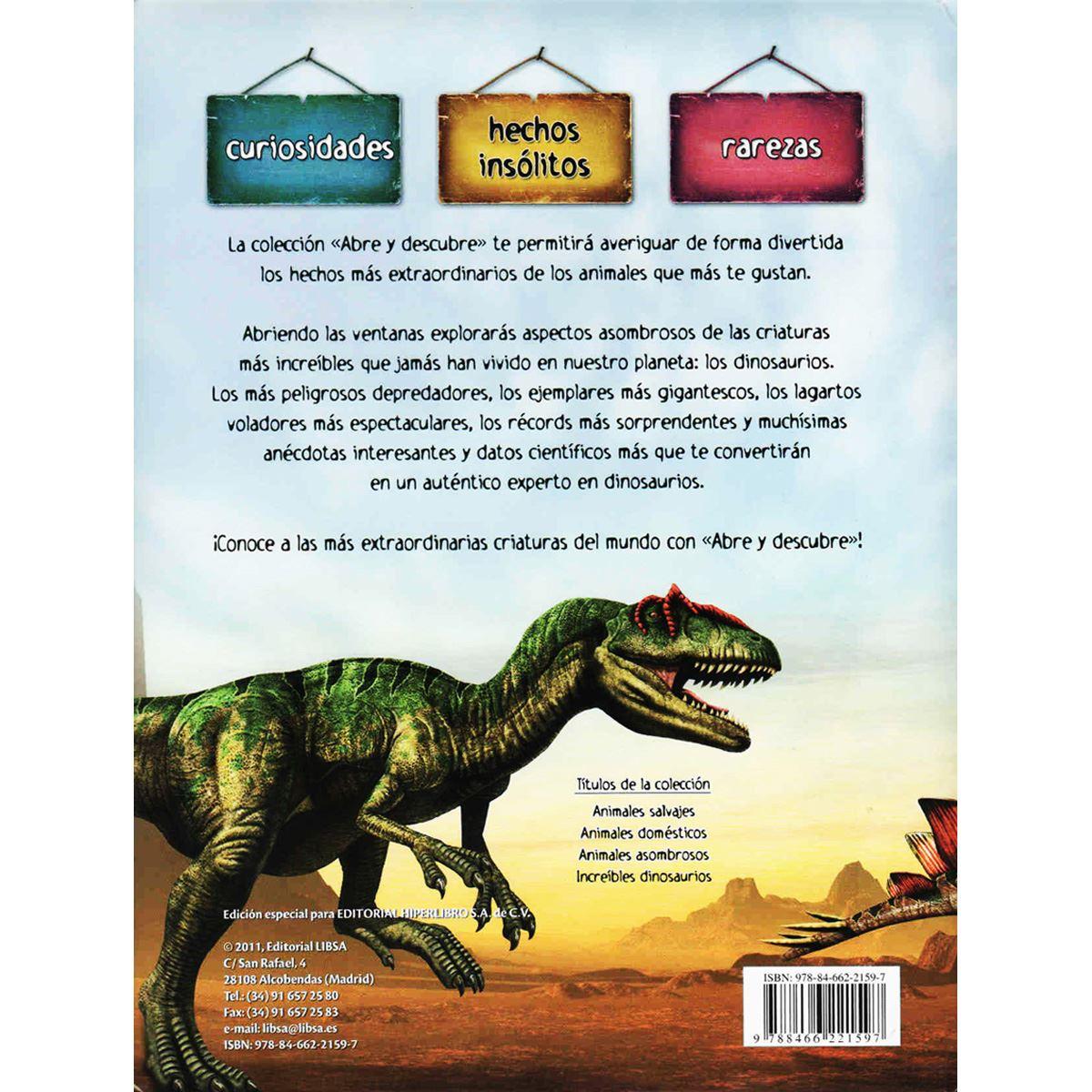 Increíbles dinosaurios abre y descubre Libro - Sanborns