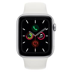 Apple Watch S5 44 mm Plata con Correa Blanca - Sanborns