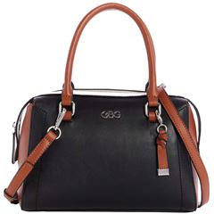 Bolso G By Guess Minnie satchel  negro multi - Sanborns