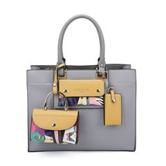 Bolso satchel Nicole Lee gris - Sanborns