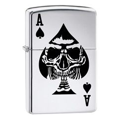 Encendedor ZIPPO Fall Price Fighter As Negro Calavera - Sanborns