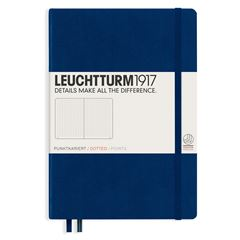 Libreta medium notebook dotted navy - Sanborns