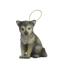 Ornament - wolf (with gold string) - Sanborns