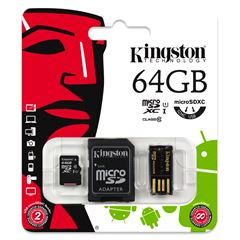 Tarjeta MSD KIT 10G2 64GB Kingston - Sanborns