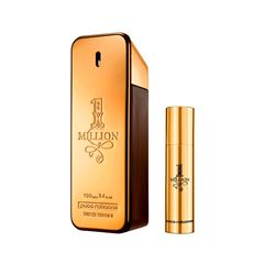 Fragancia para caballero, Paco Rabanne, 1 Million, XMAS COLLECTOR EDT 100 ML + TRAVEL SPRAY - Sanborns