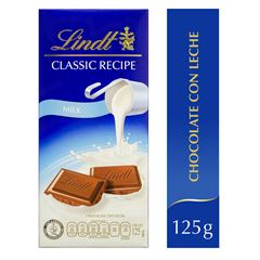 Barra de Chocolate Classic Recipe Milk de 125 gramos Lindt - Sanborns