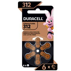 Pila Duracell Auditiva 312 C/6 - Sanborns