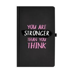 Libreta You Are Stroger Than You Think negra con 120 hojas rayadas - Sanborns