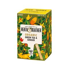 HEATH & HEATHER GREEN TEA GINGER 20PZ - Sanborns